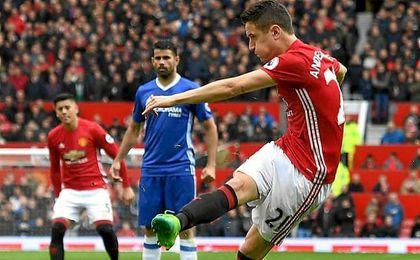 Ander Herrera fue el protagonista del United-Chelsea.