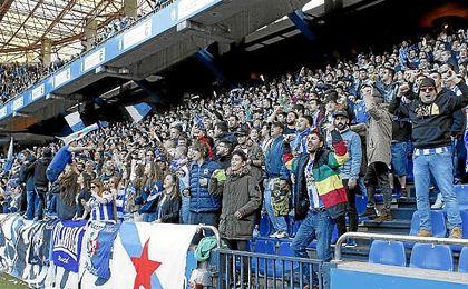 Imagen de la afición del Deportivo en Riazor.