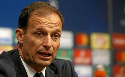 Allegri, técnico de la Juve, durante la rueda de prensa.