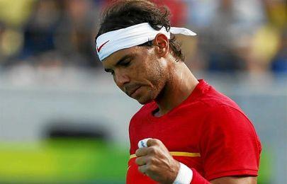 Rafa Nadal celebra la victoria.