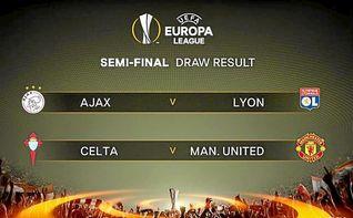El Celta se enfrentará al Manchester United en semifinales de la Europa League