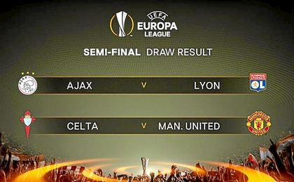Celta - United en las semifinales de la Europa League.