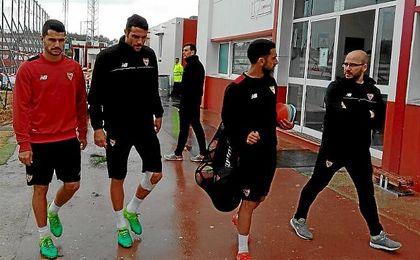 Iborra y Vitolo han trabajado al margen del equipo.