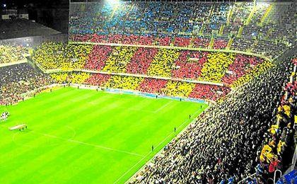 Imagen del estadio de Mestalla desde la grada.