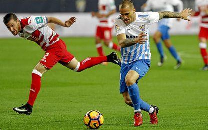 Sandro ya marcó en el partido de ida para el Málaga.