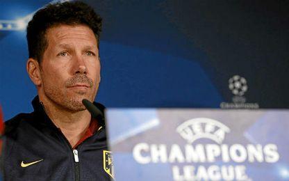 Simeone espera cambiar la historia en la Champions.