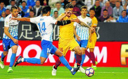 La derrota contra el Málaga alejó el récord de puntos.