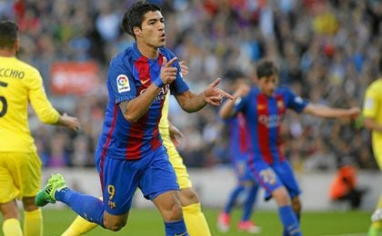 Luis Suárez hizo uno de los goles del Barça-Villarreal (4-1).