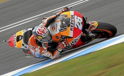 Dani Pedrosa saldrá desde la primera posición en Jerez.