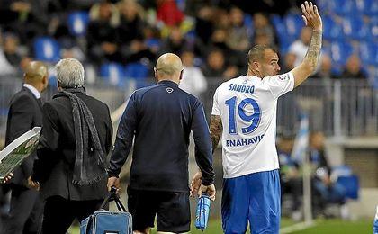 Sandro dirá adiós al Málaga en verano.