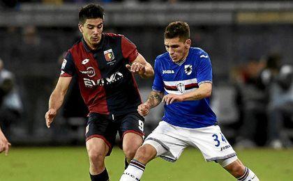 Torreira, ante el Genoa.