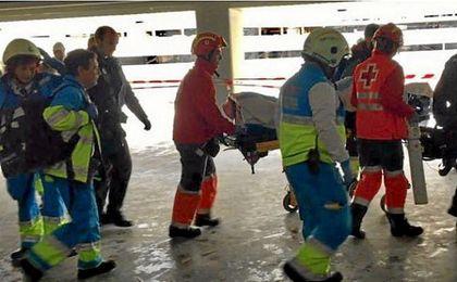Un obrero, herido muy grave al caerse de una escalera en el Wanda Metropolitano