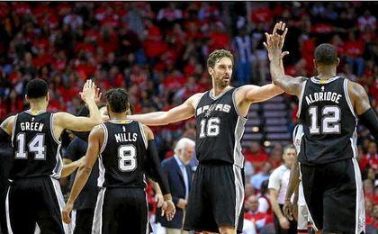 Sin Leonard, pero con Aldridge y Gasol, los Spurs eliminan a los Rockets