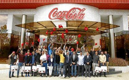 Celebran la permanencia con una visita a Coca Cola.
