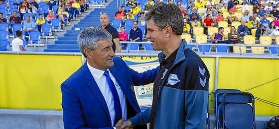 Setién y Pellegrino, los técnicos favoritos del Betis.