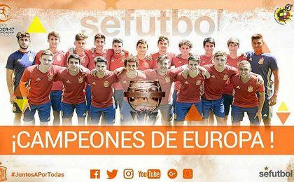 España, campeón de Europa sub 17.