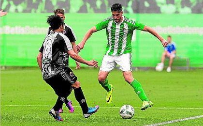Betis B 2-0 Lorca Dep.: El coraje se vistió de verde y blanco