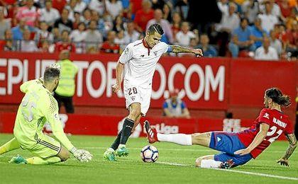 Vitolo, en el último partido de Liga ante Osasuna.