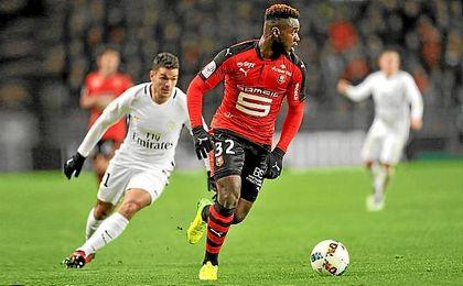 Gnagnon ha jugado 27 partido con el Stade Rennais.