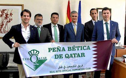La peña bética de Qatar.