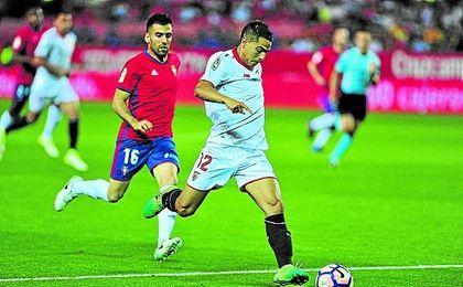 Wissam Ben Yedder, ante Osasuna.