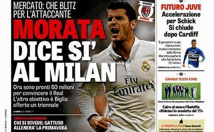 El Milan estaría negociando con Morata.
