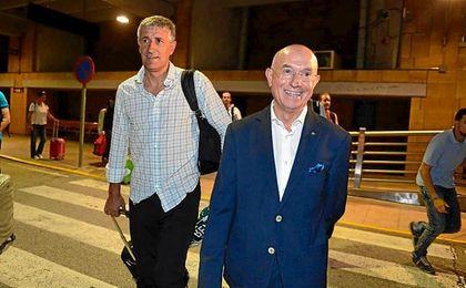 Setién, a su llegada a Sevilla.
