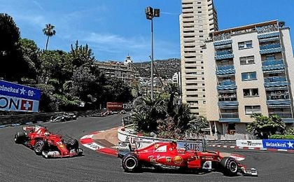 Los dos Ferrari han copado las dos primeras posiciones en Mónaco.