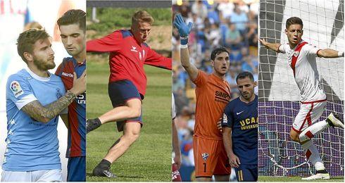 Portu, Samu Saiz, Manu Herrera y Álex Moreno.