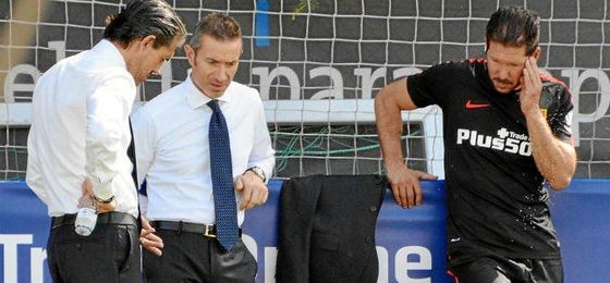 Caminero, Berta y Simeone, los encargados de los fichajes del Atlético.