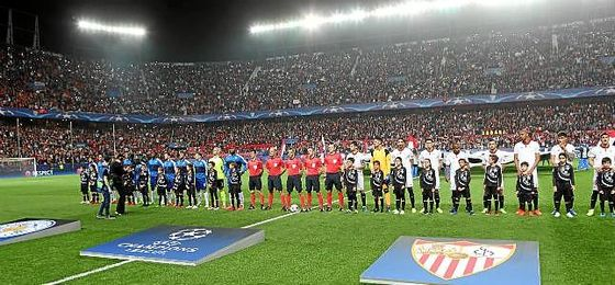 Imagen de un partido de Champions en el Sánchez-Pizjuán.
