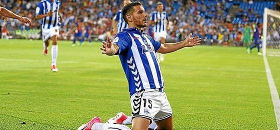Theo celebra su gol en la final de Copa ante el Barcelona.
