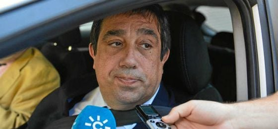 Pepe Tirado, a la salida de la reunión.