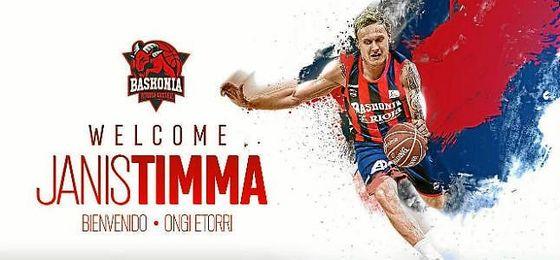 Janis Timma, nuevo jugador de Baskonia.
