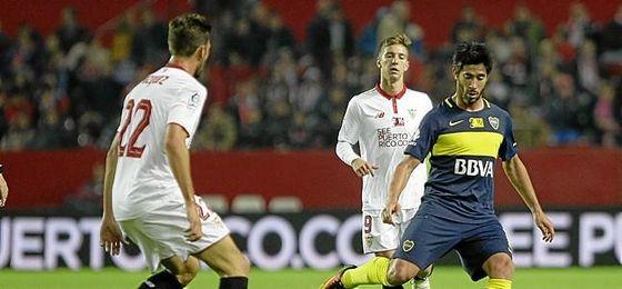 Vázquez se enfrentó a Boca en el Trofeo Antonio Puerta.