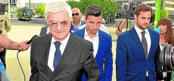Rubén Castro, a su llegada a los juzgados para declarar.