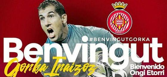 Iraizoz ficha por el Girona para las dos próximas temporadas
