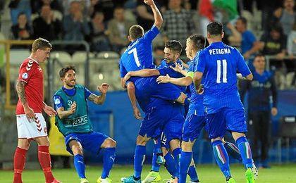 Italia se impuso a Dinamarca.