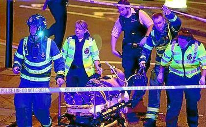 Imagen de uno de los heridos por el atropello.