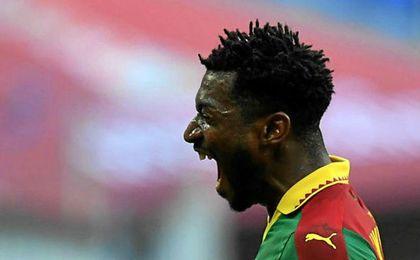 Anguissa celebra el gol logrado ante Australia.