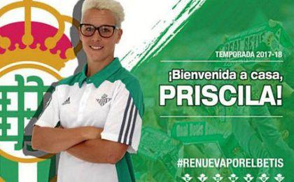 Priscila Borja ficha por el Betis procedente del Atlético de Madrid