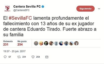El tuit publicado por el club nervionense.