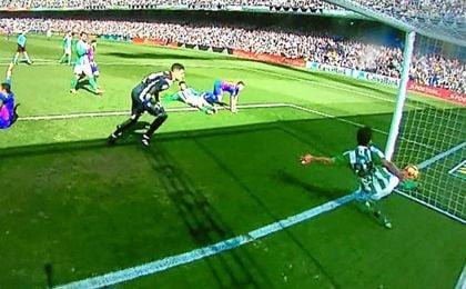 El gol fantasma más famoso del curso pasado.