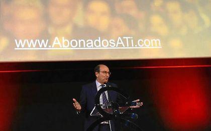 Castro, durante la presentación de la campaña de abonados.