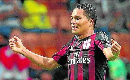 Carlos Bacca ha anotado 34 goles con la camiseta del Milan en las dos últimas campañas.