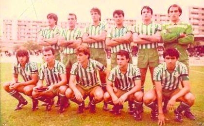 Una formación del Betis Deportivo de 1985, con Chano o Julio en sus filas, entre otros.