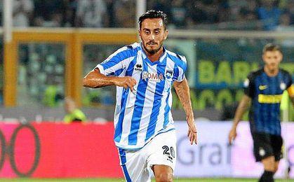 El ´trequartista´, internacional con Italia, ha jugado este curso 25 partidos con el Pescara.