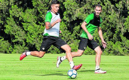 Narváez, durante el entrenamiento de ayer en Montecastillo.