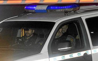 Villar, en un coche de la Guardia Civil.