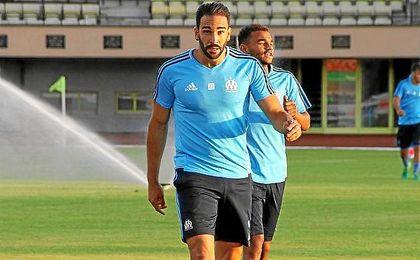 Rami, en un entrenamiento con el Marsella.
